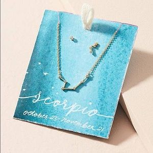 Anthropologie Constellation Necklace & Earring Set